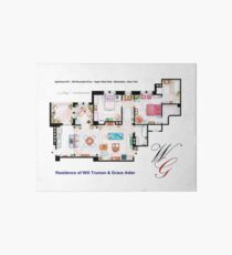 Apartment of Will Truman and Grace Adler Art Board