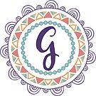 Monogramm-Buchstabe G | Personalisiert | Böhmisches Design von PraiseQuotes