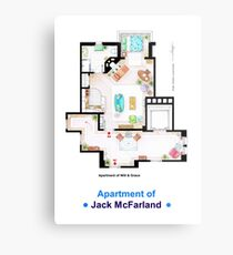 Jack McFarland's apartment form 'Will and Grace' Metal Print