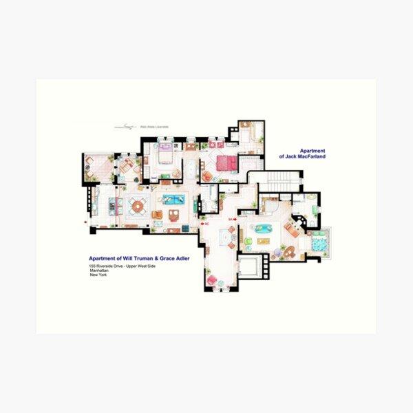 Apartments of Will Truman, Grace Adler and Jack MacFarland Art Print
