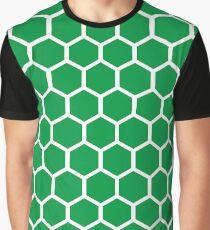 Honeycomb pattern - green Graphic T-Shirt