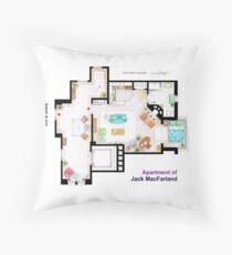 """Jack MacFarland's apartment from """"Will & Grace"""" Throw Pillow"""