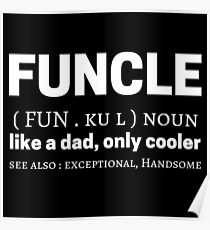 Funcle Meme Zitate Wörterbuch Definition Bedeutung Poster