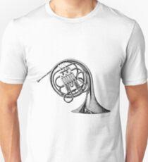 French Horn Musical Instrument. Unisex T-Shirt