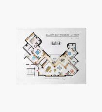 Frasier Apartment Floorplan Art Board