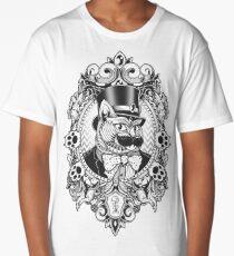 Hipster Mustache Cat Long T-Shirt