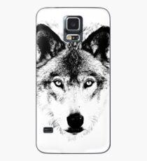 Wolf Face. Digital Wildlife Image. Case/Skin for Samsung Galaxy