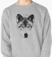 Wolf Face. Digital Wildlife Image. Sweatshirt