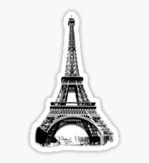 Eiffel Tower Digital Engraving Sticker
