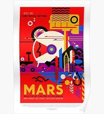 Mars, Reiseplakat Poster