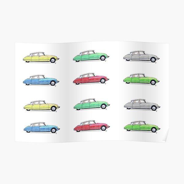 Citroen DS - Multicolour 2 Poster