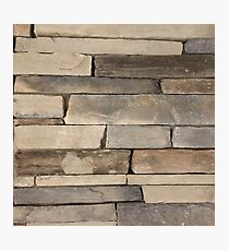 rustic grunge contemporary urban old brick wall stone  Photographic Print