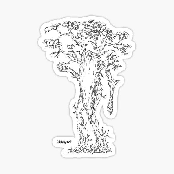 Treebeard & Tree Spirit Sticker