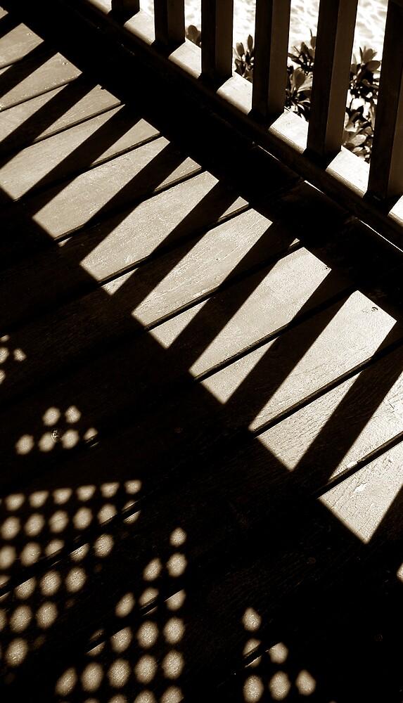 a bridge over peaceful waters by ragman
