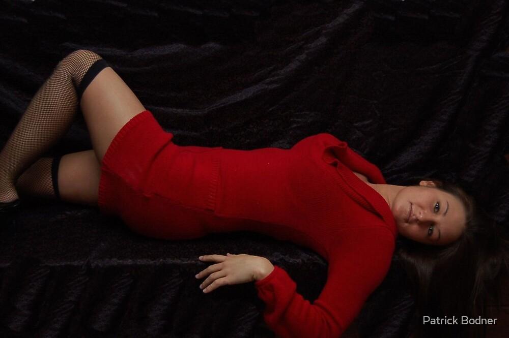 girl in red dress by Patrick Bodner
