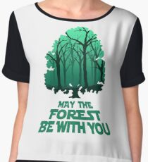 May The Forest Be With You - Frontoni Design Women's Chiffon Top