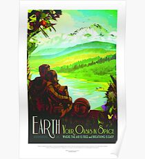 Erde, Reiseplakat Poster