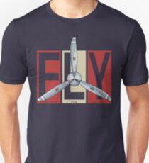 FLY Propeller Retro Designed For Flight Design Unisex T-Shirt