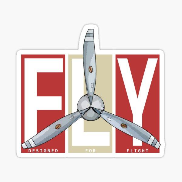 FLY Propeller Retro Designed For Flight Design Sticker
