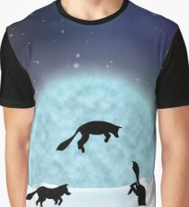 Fox Pounce Silhouette Graphic T-Shirt