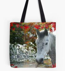 Horse in Fall Tote Bag