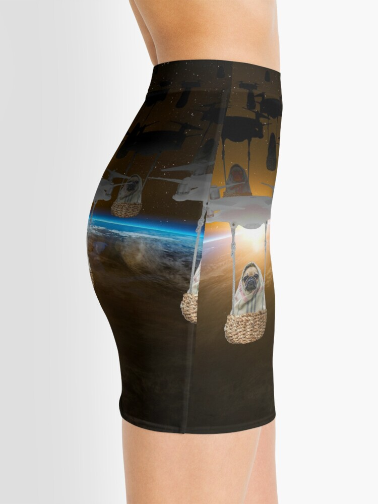 Alternate view of Pugvasion Alien Invasion by Drone Mini Skirt