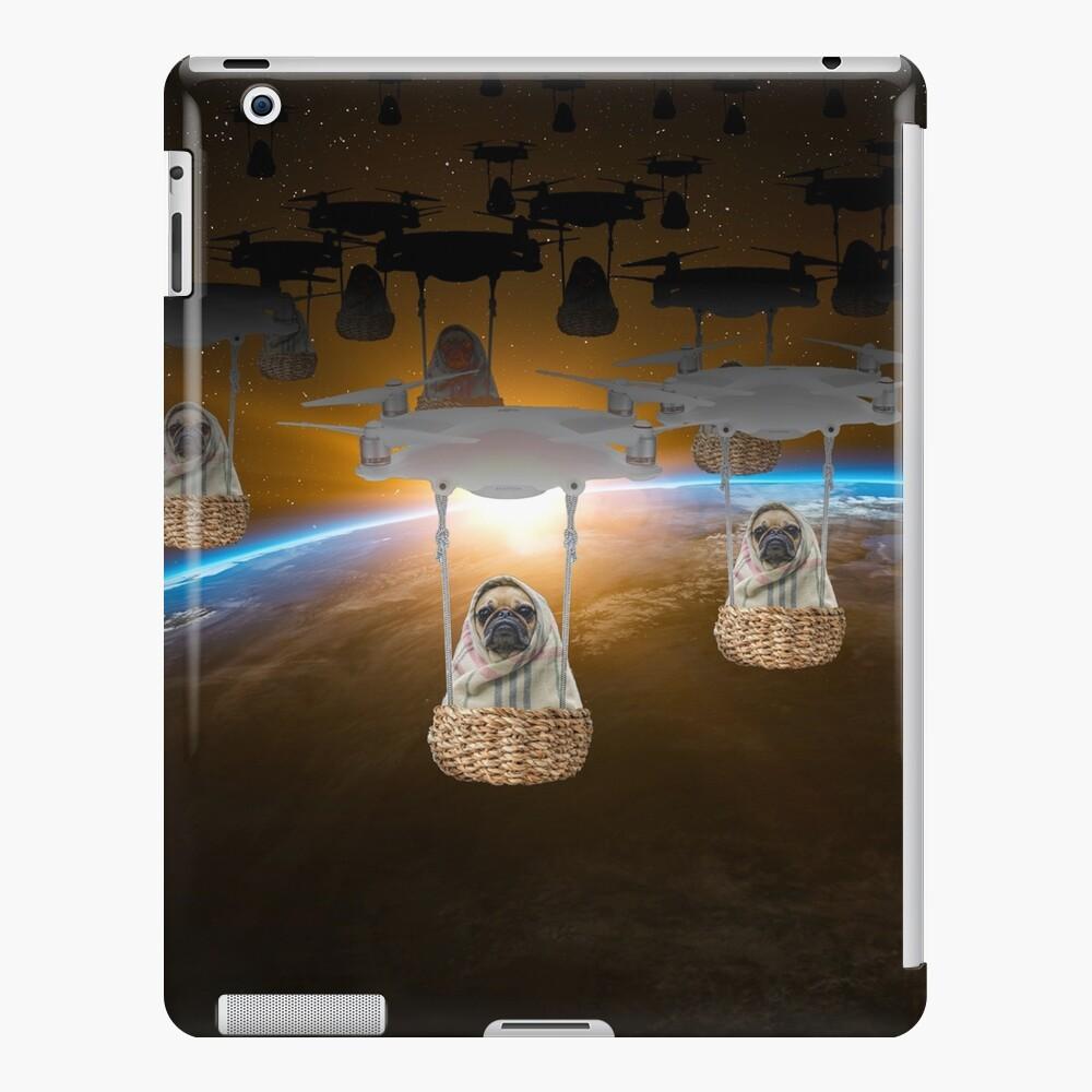Pugvasion Alien Invasion by Drone iPad Case & Skin