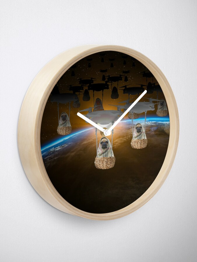 Alternate view of Pugvasion Alien Invasion by Drone Clock