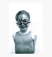 Girl with goggles Photographic Print