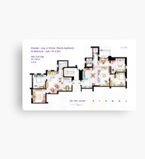 Floorplan of Friends Apartment (Old version) Canvas Print