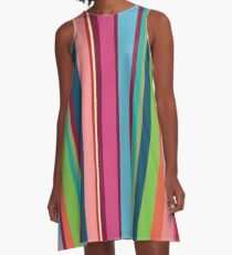 Colorful Stripes Woman A-line Dress A-Line Dress