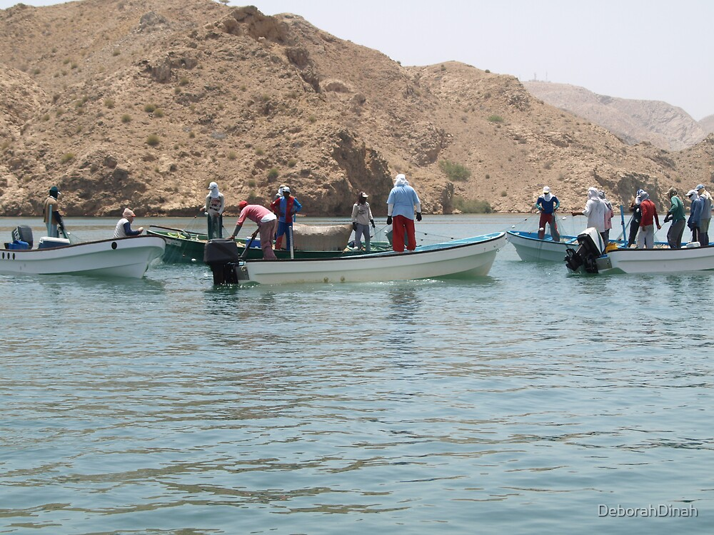 Co-operative sardine fishing in Oman by DeborahDinah