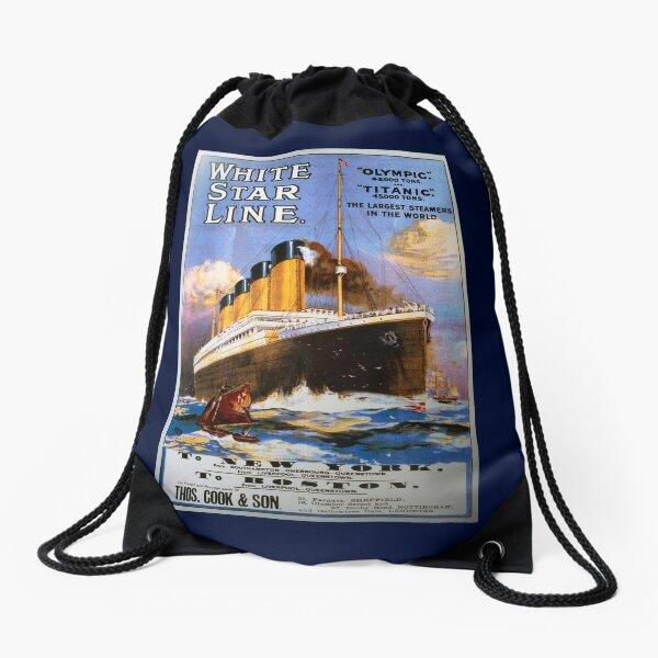 Titanic Vintage Poster Drawstring Bag