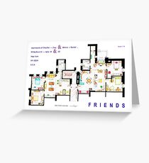 FRIENDS Apartments Floorplan (Corrected) Greeting Card