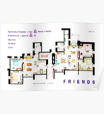 FRIENDS Apartments Floorplan (Corrected) Poster