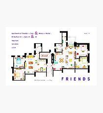 FRIENDS Apartments Floorplan (Corrected) Photographic Print
