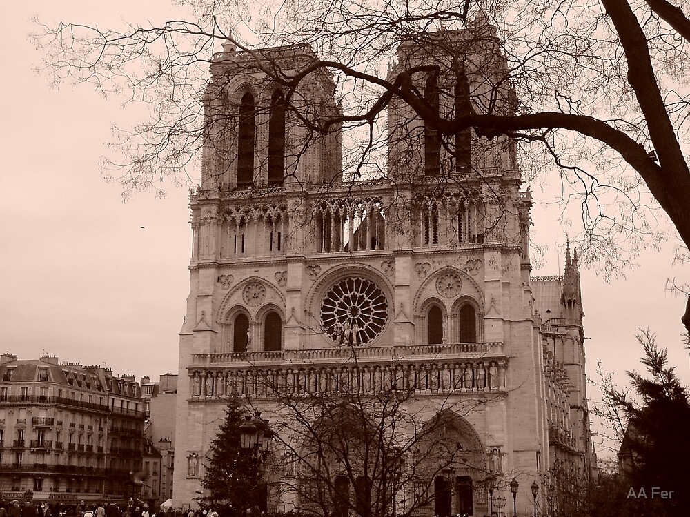 Notre Dam Cathedral-Sepia by AA Fer