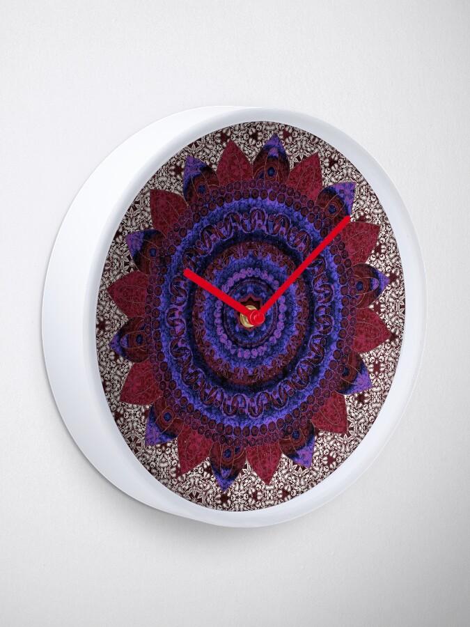 Alternate view of Garnet Baroque Mandala Clock