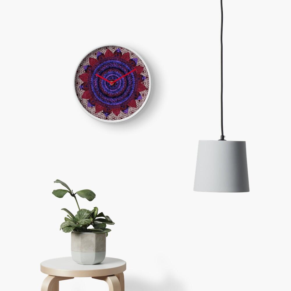 Garnet Baroque Mandala Clock