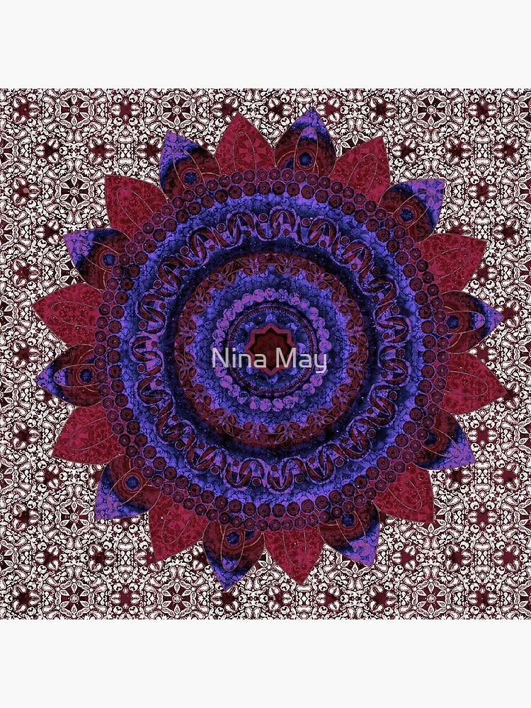 Garnet Baroque Mandala by ninabmay