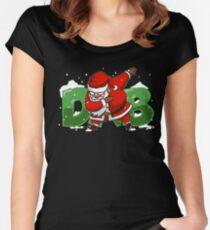 Dabbing Santa Christmas Tshirt Gift Dab Santa Claus T-Shirt Women's Fitted Scoop T-Shirt