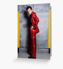 Harry in a Red Suit  Greeting Card