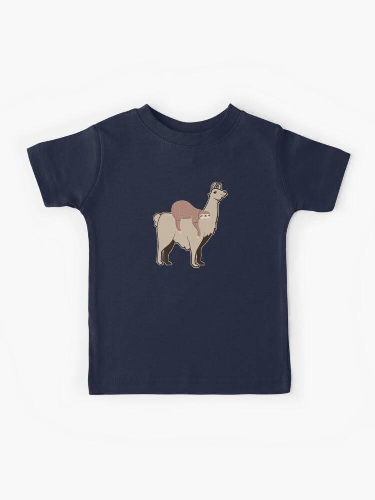 HTUAEUEHRH Cute /& Funny Sloth Riding Llama Cute Infant Short Sleeve Shirt Tee Jersey