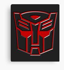 3D Transformers Logo - Autobot  Canvas Print