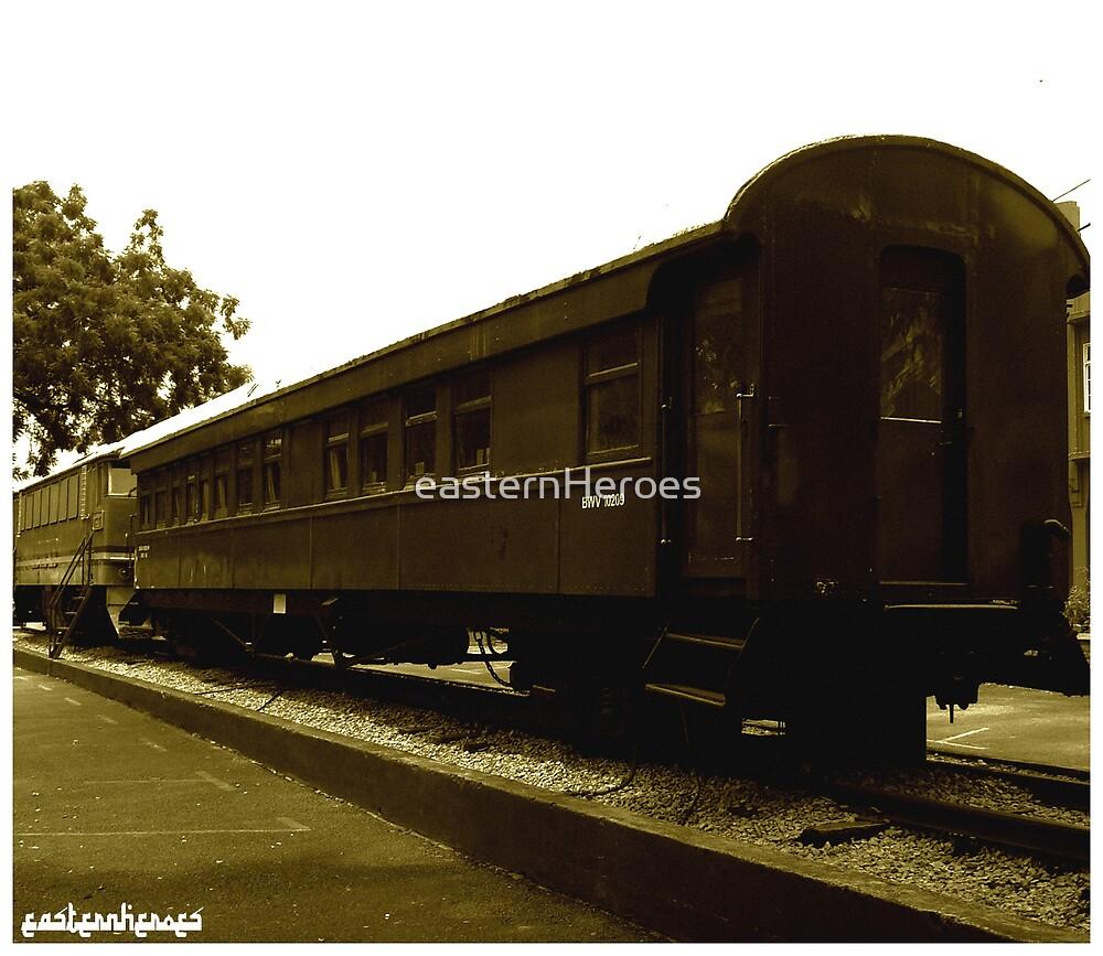 Train sepia by easternHeroes