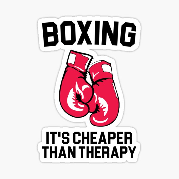Boxing Therapy Sticker