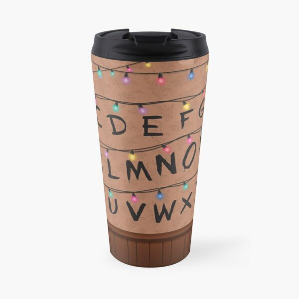 Stranger Things Alphabet Wall Travel Mug