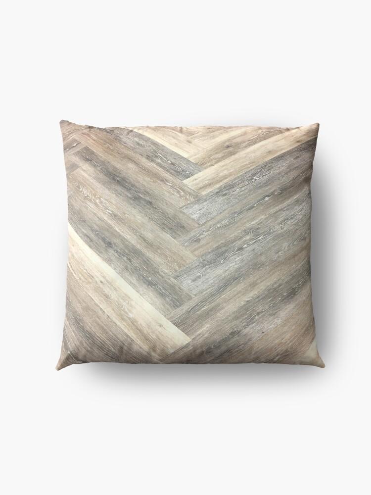 Alternate view of contemporary Caramel brown grey Beige farmhouse barn wood Floor Pillow