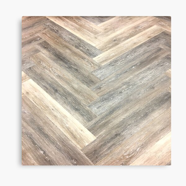 contemporary Caramel brown grey Beige farmhouse barn wood Metal Print
