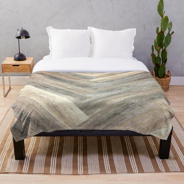 contemporary Caramel brown grey Beige farmhouse barn wood Throw Blanket